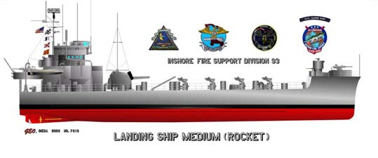Landing Ship Medium (Rocket) - LSMR