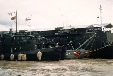 May 1967. Tugs alongside APL-26. 784 (Kalispell) and 785 (Winnemucca)