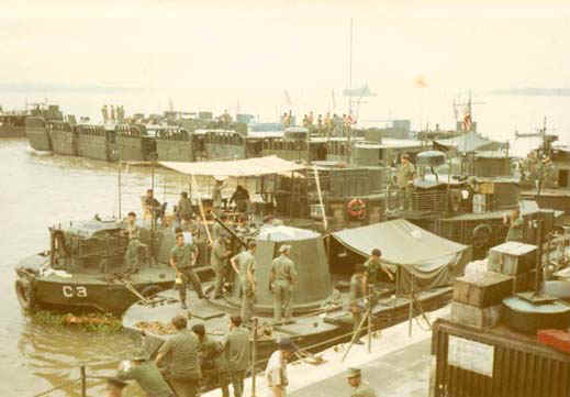 """""""Boats alongside Benewah"""" Taken by Mike Connolly around February 1970"""