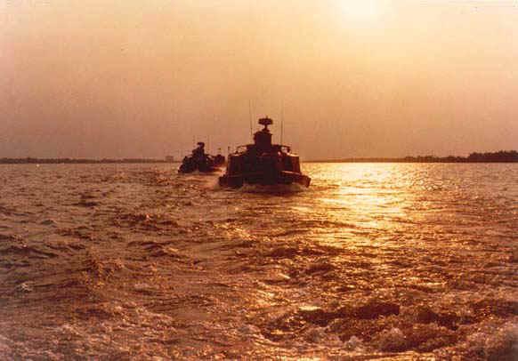 """""""Sunset on the Vinh Te"""" Taken by Captain Jim Eldridge near Vinh Gia in the Fall of 1969"""