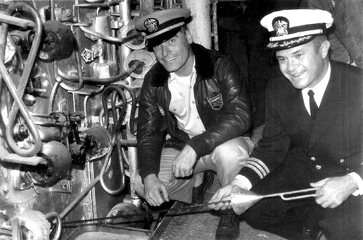 Commander Deal as CO of the USS Richard S. Edwards (DD-950)