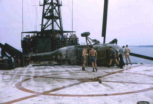 CH-34 Helicopter Crash on the USS Benewah - April 1970