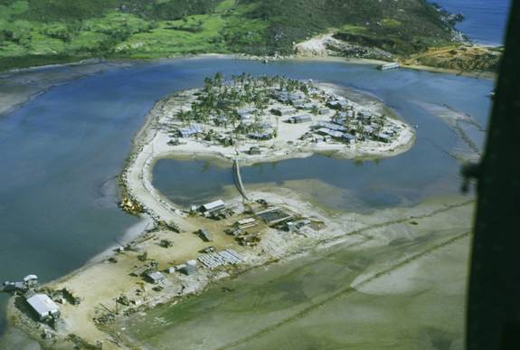Sa Huynh aerial of boat ramp and main base - 1969.