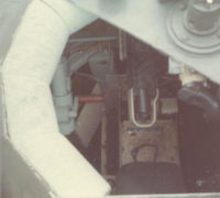 Looking down into the forward 20MM turret on the HQ5166 boat.