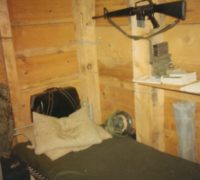My bunk in one of the two enlisted hootches in the ATF-211  compound at Dong Tam.