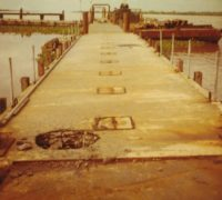 The dock at ATSB Kien An. It was safer on patrol than tied up at this dock.