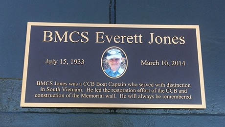 Here is BMCS Everett Jones' Plaque mounted on CCB-18