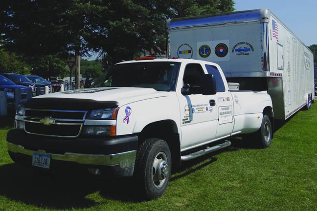 Note the new tow vehicle purchased with MRFA Funds.
